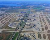 Aerial view of airport infrastructure