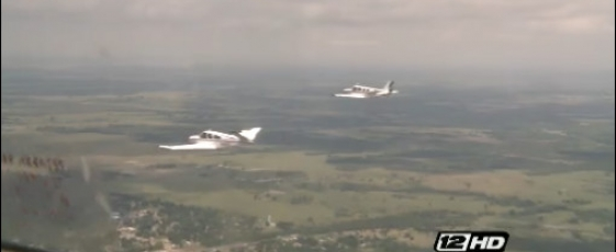 Pilots perfecting formation flight at North Texas Regional Airport